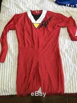 Power Ranger Alien Ranger Cosplay Red costume
