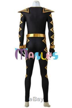 Power Ranger Dino Thunder Black Abare Cosplay Costume 4012