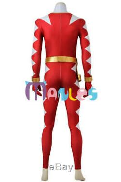 Power Ranger Dino Thunder Red Abared Cosplay Costume 4013