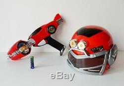 Power Ranger Turbo CARRANGER COSPLAY HELMET & AUTO BLASTER Morpher Japan Bandai