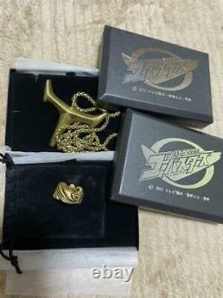 Power Rangers Beast Morphers Gobusters Gold Ring Pendant Set Narikiri Cosplay