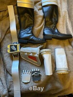 Power Rangers Cosplay Black Dino Charge (One Size) Helmet, Boots, Belt, Cuffs