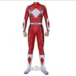 Power Rangers Cosplay Jumpsuits Blue Green Suit Tight Men Party Costume Perform