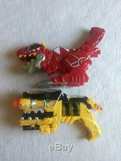 Power Rangers Deluxe Dino Charge Morpher yellow Blaster & Red T-Rex Gun, cosplay