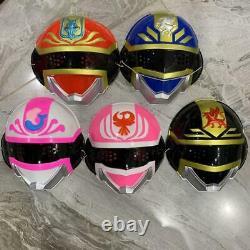 Power Rangers Dengeki Sentai Changeman Masks 5p Set Cosplay Japan Vintage 1985