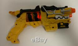 Power Rangers Dino Charge Gun Blaster Yellow Tested Light Sound Costume Cosplay