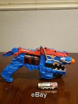 Power Rangers Dino Charge Titano Morpher Deluxe Blue Variant Rare Cosplay