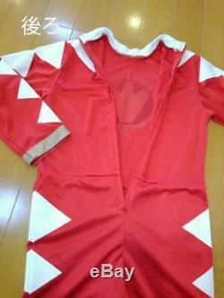Power Rangers Dino Thunder 2003 Costume Cosplay ABARANGER RED for Kids 110cm