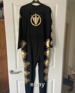 Power Rangers Dino Thunder Black Ranger Suit Cosplay Custome Abaranger