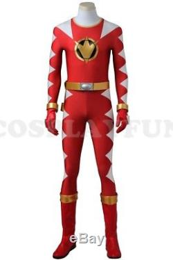 Power Rangers Dino Thunder Red Dino Ranger Cosplay Costume Handmade