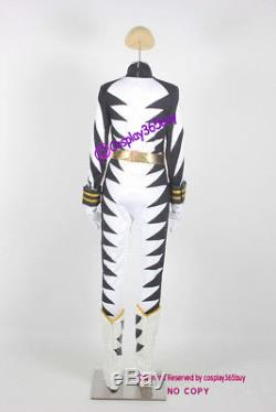 Power Rangers Dino Thunder White Dino Ranger Cosplay Costume incl. Boots covers