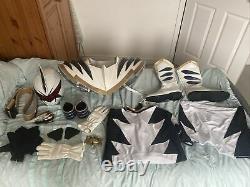 Power Rangers Dino Thunder White Ranger Cosplay Costume Spandex Abarekiller