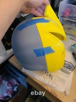 Power Rangers Dino thunder white cosplay raw helmet