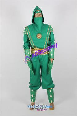 Power Rangers Green Ninjetti Ninja Ranger Cosplay Costume incl gloves resin coin