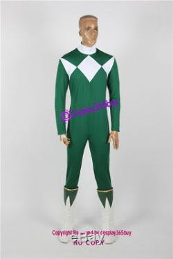 Power Rangers Green Ranger Cosplay Costume include boots covers