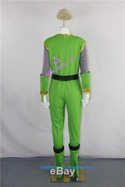 Power Rangers Green Samurai Ranger Cosplay Costume
