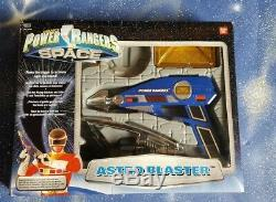 Power Rangers In Space Blue Astro Blaster Gun Cosplay Weapon Lights and Sounds