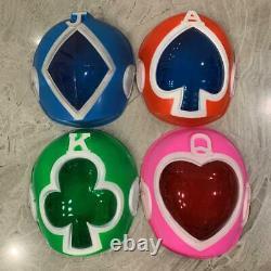 Power Rangers J. A. K. Q. Dengekitai Masks 4p Set Cosplay Japan Vintage Rare