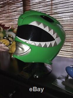 Power Rangers Legacy Green Ranger Helmet 11 Full Scale Cosplay