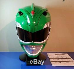 Power Rangers Legacy Green Ranger Helmet 11 Full Scale MMPR Cosplay Jason