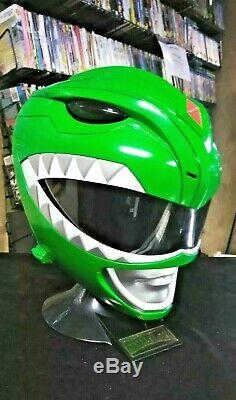 Power Rangers Legacy Green Ranger (Tommy) Cosplay Helmet withDisplay Stand (OSFM)