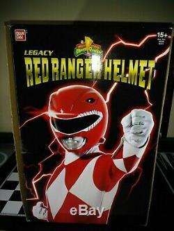 Power Rangers Legacy MMPR Mighty Morphin Red Ranger Wearable Helmet Cosplay 11