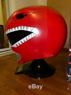 Power Rangers Legacy Red Ranger Helmet 11 Full Scale Cosplay Display Iike new