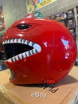 Power Rangers Legacy Red Ranger Helmet 11 Full Scale Cosplay Pre-owned Display
