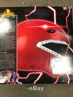 Power Rangers Legacy Red Ranger Helmet 11 Full Scale Cosplay With Box