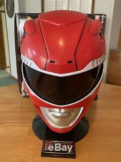 Power Rangers Legacy Red Ranger Helmet 11 Full Scale Cosplay With Box Brand New