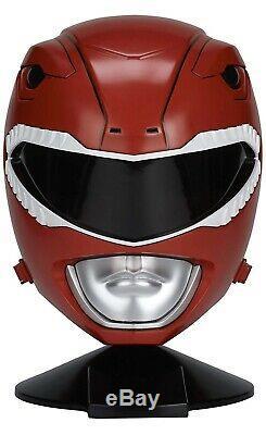 Power Rangers Legacy Red Ranger Helmet 11 Full Scale Cosplay pre-owned