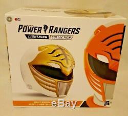 Power Rangers Lightning Collection White Ranger Helmet Replica Cosplay NEW NIB