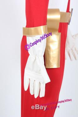 Power Rangers Lightspeed Rescue Red Lightspeed Ranger Cosplay Costume