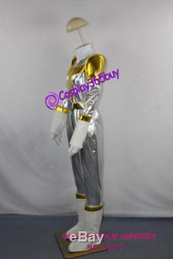 Power Rangers Lightspeed Rescue Titanium Ranger Cosplay Costume incl boots cover