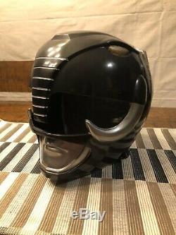 Power Rangers Mastodon Black Ranger Cosplay Helmet Unfinished