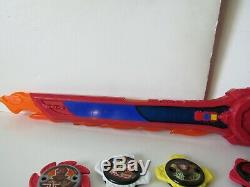 Power Rangers Ninja Steel DX Superstar Blade Sword Morpher With 8 Stars Cosplay