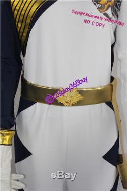 Power Rangers Ninja Storm Lunar Wolf Ranger Cosplay Costume incl. Boots covers