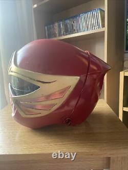 Power Rangers Ninja Strom Red Ranger Helmet Cosplay Custome Fan Made Prop