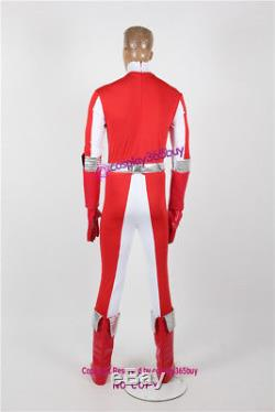 Power Rangers Operation Overdrive Red Overdrive Ranger Cosplay Costume w. Armor