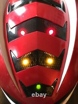 Power Rangers Red Ranger Jungle Fury Mega Mission Helmet Bandai Cosplay Used