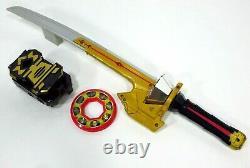 Power Rangers Samurai Morpher Shinkenger Spin Sword Black Box & Disc Deluxe Lot