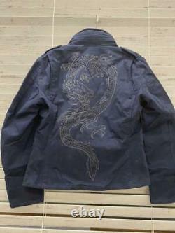 Power Rangers Samurai Shinkenger Blue Costume Jacket Cosplay Women Free Size