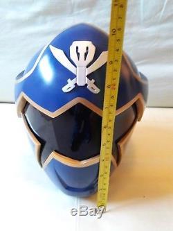 Power Rangers Super Megaforce Gokai Ranger Blue Helmet Cosplay Life Size Replica