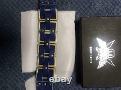 Power Rangers Super Megaforce Gokaiger Blue Metal Brace Cosplay BANDAI Limited