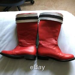 Power Rangers Super Sentai Red Ranger Aniki Cosplay Boots Leather