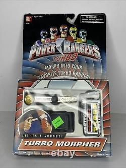 Power Rangers Turbo Morpher WORKS With Strap And Key Cosplay Lights Sounds MMPR