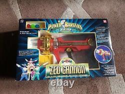 Power Rangers Vintage Zeo Cannon Toy Blaster Gun Retro Cosplay Lights & Sounds