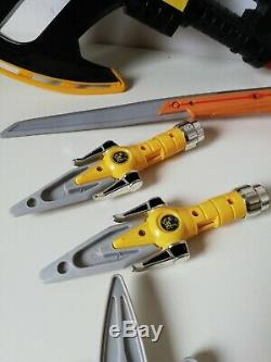 Power Rangers Weapons Lot Bundle Set Blue Black Yellow Rare Red Green Cosplay