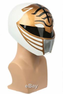 Power Rangers White Ranger Cosplay Helmet Costume Prop Mask Halloween Party Gift