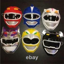 Power Rangers Wild Force Gaoranger Masks Complete 6p Set Cosplay Japan Rare
